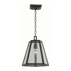 World Imports - Bedford 4 Light Glass Pendant in Oil Rubbed B - Manufacturer SKU: WI 613788. Bulbs not included. Seedy glass. Oil Rubbed Bronze Finished frame. Use in foyer or as pendant lights. Bedford Collection. 1 Light. Power: 60W. Type of bulb: Medium (Regular). Oil Rubbed Bronze finish. 10 ft. Chain & 12 ft. Wire. Canopy 5.25 in. D. 12 in. W x 12 in. H (15 lbs.)