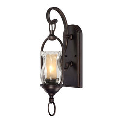 Savoy House - Savoy House 9-6723-1-213 Shadwell 1 Light Sconce - This classic collection is brimming with style. Shadwell features a rich English Bronze with Gold finish and Water Glass shades paired with soft amber chimneys that will warm any home's d?cor.