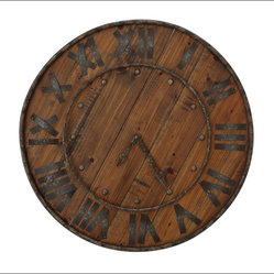 Rustic Wood & Iron Clock