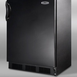 "Summit - AL-652B 24"" 5.1 cu.ft. ADA Compliant Compact Refrigerator with Zero Degree Freez - The AL652B uses SUMMIT39s own dual evaporator system to separately cool the freezer and fresh food sections Cycle defrost helps to reduce user maintenance on the refrigerator while maintaining a zero degree freezer that keeps frozen food frozen Addit..."