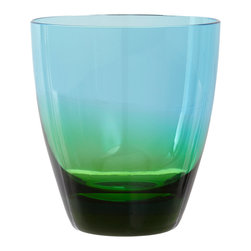 Kim Seybert Vague Double Old Fashioned Glass - For a more colorful take on the ombré trend, I love the idea of adding these blue/green glasses to my spring table. They feature a fade from emerald to pale aqua. Lovely!