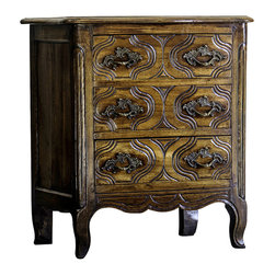 Louis XV Period Walnut Three Drawer Chest - The HighBoy, Carl Moore Antiques