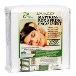 None - Waterproof Mattress Encasements - Designed for hotel use,the Advanced Mattress Encasements features a heavy-duty construction,Bed Bug Protection,plus 'self-sanitizing' antimicrobial fabric,AEGIS,stays continuously fresh and is germ free.