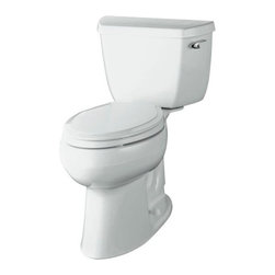"KOHLER - KOHLER K-3713-RA-0 Highline Comfort Height Two-Piece Elongated Toilet - KOHLER K-3713-RA-0 Highline Comfort Height Two-Piece Elongated Toilet with 10"" Rough-In, Right-Hand Trip Lever in White"
