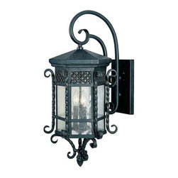 Maxim Lighting - Maxim Scottsdale 3-Light Outdoor Wall Lantern Country Forge -30125CDCF - Scottsdale is a traditional, Mediterranean style collection from Maxim Lighting Interior in Country Forge finish with Seedy glass.