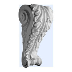 "Inviting Home - Micanos Corbel - Decorative corbel 11-5/8""H x 6-7/8""W X 5-7/16""D Polyurethane Corbels/Brackets are factory primed and suitable for painting glazing or faux finish. This corbel is manufactured from high-density furniture grade polyurethane material that is water and heat resistant impervious to insect infestation and odor free. Polyurethane corbels are easier to install than plaster or gypsum due to their light weight dimensional stability precise tolerances and flexibility."
