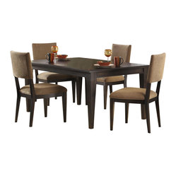 Liberty Furniture Visions 5 Piece 84x42 Dining Room Set in Mocha, Dark Wood