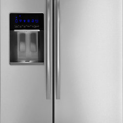 Whirlpool Gold GSS30C6EY Side-by-Side Refrigerator - From the front it's hard to tell a standard-depth from a counter-depth refrigerator. The first clue will be the price tag: Counter-depths tend to cost more. Second, check the specs. The refrigerator can be 6 inches deeper. If looking at this option, consider your circulation path; a standard-depth fridge can really change the flow and design of a kitchen.