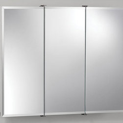 Lighthouse Distribution Corp - Broan-Nutone Ashland Tri-View 30W x 26H in. Surface Mount Medicine Cabinet 75528 - Shop for Bathroom Cabinets from Hayneedle.com! If you're searching on our site we're pretty sure you need this product. It is after all a medicine cabinet. But not just any medicine cabinet. We think it's a pretty good one. The Broan-Nutone Ashland Tri-View Surface Mount Medicine Cabinet - 30W x 26H in. has a bright white finish and durable construction with quality laminate. This means it'll work well in the bathroom where you'll likely put it. The mirrors exquisite particularly when you look into them feature a .5-inch bevel around the edges. Includes all necessary hardware for installation.About Broan-NuToneBroan-NuTone has been leading the industry since 1932 in producing innovative ventilation products and built-in convenience products all backed by superior customer service. Today they're headquartered in Hartford Wisconsin employing more than 3200 people in eight countries. They've become North America's largest producer of medicine cabinets ironing centers door chimes and they're the industry leader for range hoods bath and ventilation fans and heater/fan/light combination units. They are proud that more than 80 percent of their products sold in the United States are designed and manufactured in the U.S. with U.S. and imported parts. Broan-NuTone is dedicated to providing revolutionary products to improve the indoor environment of your home in ways that also help preserve the outdoor environment.