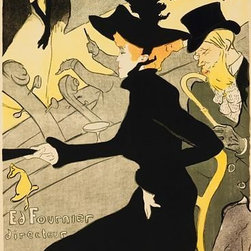 Wallmonkeys Wall Decals - Fine Art Murals Divan Japanese by Henri Toulouse - lautrec  - 60 Inches H - Easy to apply - simply peel and stick!