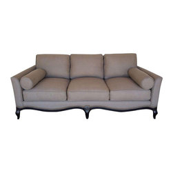 French Styled Taupe Linen Sofa - Dimensions 83.0ʺW × 40.0ʺD × 33.0ʺH
