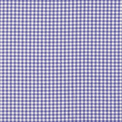 "Close to Custom Linens - 22"" Full Bedskirt Gathered Lavender Gingham Check - A charming traditional gingham check in lavender on a cream background. Gathered with 1 1/2 to 1 fullness, split corners and a 22 inch drop. 100% cotton with a cotton/poly platform."