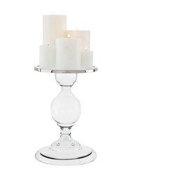 Eichholtz Oroa - Candle Holder Providence, Large - Glass/ nickel