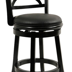 "Boraam Florence 24"" Swivel Counter Stool in Black Sandthru"