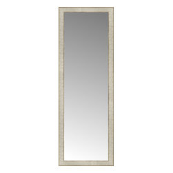 """Posters 2 Prints, LLC - 17"""" x 48"""" Libretto Antique Silver Custom Framed Mirror - 17"""" x 48"""" Custom Framed Mirror made by Posters 2 Prints. Standard glass with unrivaled selection of crafted mirror frames.  Protected with category II safety backing to keep glass fragments together should the mirror be accidentally broken.  Safe arrival guaranteed.  Made in the United States of America"""