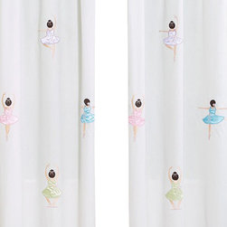 Sweet Jojo Designs - Ballerina Window Panels (Set of 2) - The Ballerina window curtain panel set (2 panels) will help complete the look of your Sweet Jojo Designs room. These window treatments instantly change the look and feel of any room, adding layers of warmth and style. Each of the 2 panels measures 42in. x 84in.