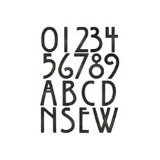 Traditional House Numbers Blink Craftsman House Numbers, 5 Inch