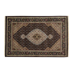 1800-Get-A-Rug - Oriental Rug 250 kpsi Hand Knotted Wool and Silk Black Tabriz Mahi Sh19816 - Our fine Oriental hand knotted rug collection consists of 100% genuine, hand-knotted and hand-woven rugs from Persia, China, and other areas throughout Asia. Classic, traditional, and offered in a wide range of elaborate designs, every handmade rug is guaranteed to serve as a beautiful and striking element in any interior setting.