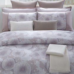 None - Purple Reef Cotton 7-piece Duvet Cover Set - Upgrade your bedroom with this purple duvet cover set. The set features one duvet cover with purple flowers, two shams, two Euro shams, and two accent pillows with removable covers. It is made of 100 percent cotton and is machine washable.