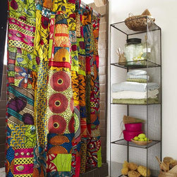 Viva Terra - African Print Shower Curtain - Exuberant traditional designs