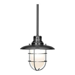 Design Classics Lighting - Nautical Mini-Pendant - 812-09 - This nautical style cage pendant includes one 6-inch and three 12-inch stem segments for various hanging lengths. Takes (1) 60-watt incandescent A19 bulb(s). Bulb(s) sold separately. Dry location rated.