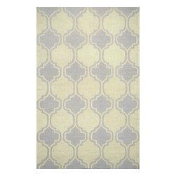 nuLOOM - nuLOOM Hand-tufted Moroccan Trellis Wool Rug, Grey, (5' X 8') - Material: 100% Wool