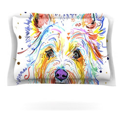 "Kess InHouse - Rebecca Fischer ""Bella"" Scottish Terrier Pillow Sham (Woven, 30"" x 20"") - Pairing your already chic duvet cover with playful pillow shams is the perfect way to tie your bedroom together. There are endless possibilities to feed your artistic palette with these imaginative pillow shams. It will looks so elegant you won't want ruin the masterpiece you have created when you go to bed. Not only are these pillow shams nice to look at they are also made from a high quality cotton blend. They are so soft that they will elevate your sleep up to level that is beyond Cloud 9. We always print our goods with the highest quality printing process in order to maintain the integrity of the art that you are adeptly displaying. This means that you won't have to worry about your art fading or your sham loosing it's freshness."