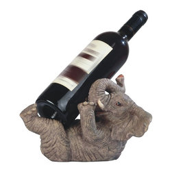 GSC - 9.5 Inch Elephant Playing Wine Holder - This gorgeous 9.5 Inch Elephant Playing Wine Holder has the finest details and highest quality you will find anywhere! 9.5 Inch Elephant Playing Wine Holder is truly remarkable.