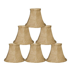 """Royal Designs, Inc"" - 5"" Mouton Modified Bell Chandelier Lampshade - ""This 5"" Mouton Modified Bell Chandelier Lampshade is a part of Royal Designs, Inc. Timeless Chandelier Shade Collection and is perfect for anyone who is looking for a simple yet stunning lampshade. Royal Designs has been in the lampshade business since 1993 with their multiple shade lines that exemplify handcrafted quality and value."