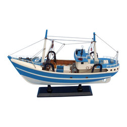 """Handcrafted Model Ships - I'm Hooked 19"""" - Wooden Model Fishing Boat - Not a model ship kit"""