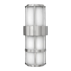 Hinkley - Hinkley Saturn One Light Stainless Steel Outdoor Wall Light - 1909SS-GU24 - This One Light Outdoor Wall Light is part of the Saturn Collection and has a Stainless Steel Finish. It is Outdoor Capable, and Wet Rated.