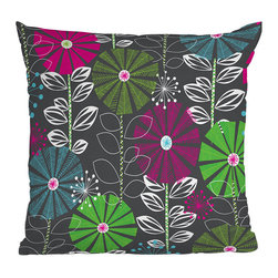 DENY Designs - DENY Designs Khristian A Howell Cape Town Blooms Throw Pillow - Throw pillows aren't just for grandma's house anymore. Liven up your home with the funky DENY Designs Khristian A Howell Cape Town Blooms Throw Pillow. With complimentary shades of grays, purples, blues, and greens, each fade-resistant pillow is specially printed to order for long-lasting color and comfort. Make a bold statement while supporting art: DENY works with artists and art communities around the world to create custom home decor accessories. Transform your life from ordinary to extraordinary instantly!Custom printed to orderFade resistantWoven polyester coverConcealed zipper6-color dye processKhristian A Howell collection