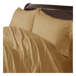SCALA - 400TC 100% Egyptian Cotton Stripe Taupe Queen Size Flat Sheet - Redefine your everyday elegance with these luxuriously super soft Flat Sheet . This is 100% Egyptian Cotton Superior quality Flat Sheet that are truly worthy of a classy and elegant look.