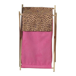 Sweet Jojo Designs - Pink Cheetah Hamper - The Pink Cheetah Hamper by Sweet Jojo Designs will add a designer's touch to any child's room. This children's laundry clothes hamper has a wooden frame, mesh liner, and a fabric cover.