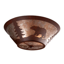 Steel Partners Inc - Round Drop Ceiling Mount - BEAR - Every piece we create is unique — handcrafted at our factory in Chehalis, Washington, USA. Due to this, lead times are 2 to 4 weeks.
