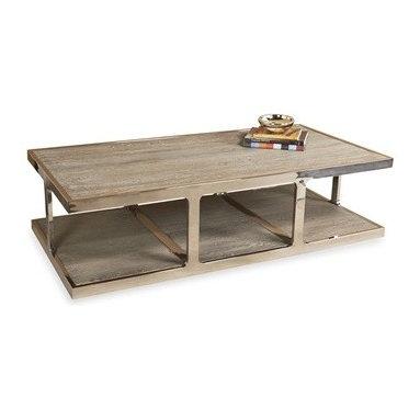 Gray Coffee table, Wood and Metal -