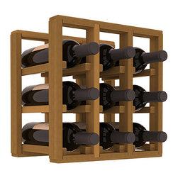 Wine Racks America® - 9 Bottle Counter Top/Pantry Wine Rack in Redwood, Oak Stain - These counter top wine racks are ideal for any pantry or kitchen setting.  These wine racks are also great for maximizing odd-sized/unused storage space.  They are available in furniture grade Ponderosa Pine, or Premium Redwood along with optional 6 stains and satin finish.  With 1-10 columns available, these racks will accommodate most any space!!