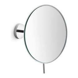 WS Bath Collections - Moved 55963 Magnifying Mirror 3X - Mirror Pure by WS Bath Collections Mevedo Makeup/ Magnifying Mirror 8.7 Wall-mount in Polished Chrome