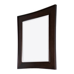 American Imaginations - 32-in. W x 36-in. H Transitional Birch Wood-Veneer Wood Mirror In Walnut - This transitional wood mirror belongs to the exquisite Newport design series. It features a rectangle shape. This wood mirror is designed to be installed as an wall mount wood mirror. It is constructed with birch wood-veneer. This wood mirror comes with a lacquer-stain finish in Walnut color. Sleek and modern style mirror with a slightly raised edge border contstructed with high quality premium glass with bevelled edges This Wood Mirror features Brushed Nickel hardware. Can be installed vertically or horizontally. No assembly required.
