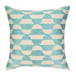 Trina Turk - Trina Turk Ventura Pillow-Green - The Green Ventura Pillow by Trina Turk is part of a line infused with bold signature prints and unique dynamic hues, Trina's modern and optimistic outlook meld the best of classic American design with a California confidence, incorporating beautiful fabrications and impeccable quality for the effortless elan and carefree glamour.