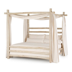 La Lune Collection - Rustic Canopy Bed #4092 by La Lune Collection - Rustic Canopy Bed 4092 by La Lune Collection