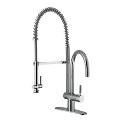 Vigo Industries - 13 in. Kitchen Faucet with Single Hole Installation - This stylish and durable faucet is sure to give your kitchen sink a new look.