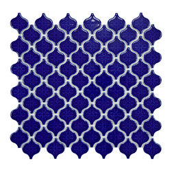 Somertile - SomerTile 10.75x11.25 Morocco 1.5-in Mini Cobalt Porcelain Mosaic Tile (Pack of - Enhance any room of your home with this bold blue porcelain mosaic wall tile from SomerTile. Each cobalt tile features a rich pattern and high sheen to ensure uniformity across all pieces. Tiles are easy to install,even for the novice decorator.