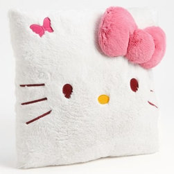 Hello Kitty Cushion - Your favorite kitty cat adds charm to an oversized cushion perfect for decoration or snuggles. Color(s): white. Brand: HELLO KITTY. Style Name: Hello Kitty Cushion. Style Number: 662077.