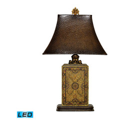 Dimond Lighting - Dimond Lighting Embossed Block Table Lamp in Elmsford - LED Offering Up To 800 L - Table Lamp in Elmsford - LED Offering Up To 800 Lumens belongs to Embossed Block Collection by Dimond Lighting Lamp (1)