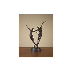 "John Richard 18x13x7 Bnz Statue In Motion W/Mrbl Base - 18""H X 13""W X 7""D Bronze Statue In Motion with Marble Base"