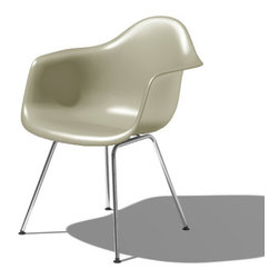 Herman Miller - Eames Molded Plastic Armchair with 4-Leg Base - Herman Miller Eames Molded Plastic Armchair with 4-Leg Base designed by Charles and Ray Eames