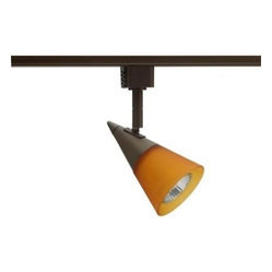 Juno Glass Cone GU10 Bronze Track Lighting R716BZ