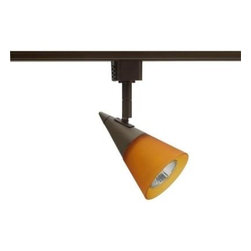 Juno - Juno Glass Cone GU10 Bronze Track Lighting R716BZ - Shop for Lighting & Fans at The Home Depot. The Juno Trac-Lites Glass Cone Track Light offers a stylish, contemporary design. It features a bronze, cone-shaped rear housing with a conical front-glass accent in amber-frost. This track light provides exceptional task and accent lighting when installed on the economical Juno Trac-Lites system.