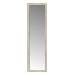 """Posters 2 Prints, LLC - 16"""" x 54"""" Libretto Antique Silver Custom Framed Mirror - 16"""" x 54"""" Custom Framed Mirror made by Posters 2 Prints. Standard glass with unrivaled selection of crafted mirror frames.  Protected with category II safety backing to keep glass fragments together should the mirror be accidentally broken.  Safe arrival guaranteed.  Made in the United States of America"""